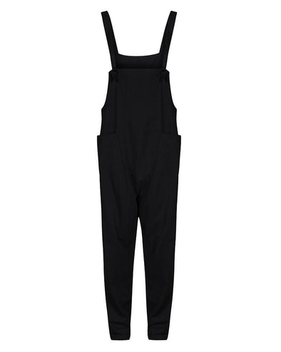Turtledove London Black Organic Cotton Jersey Dungarees - Adult