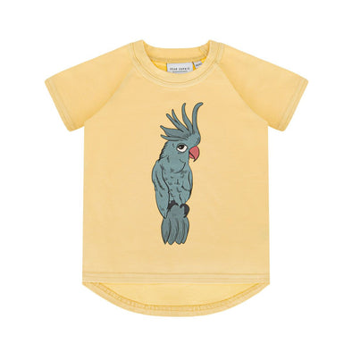 Dear Sophie Parrot Blue Pale Yellow T-shirt