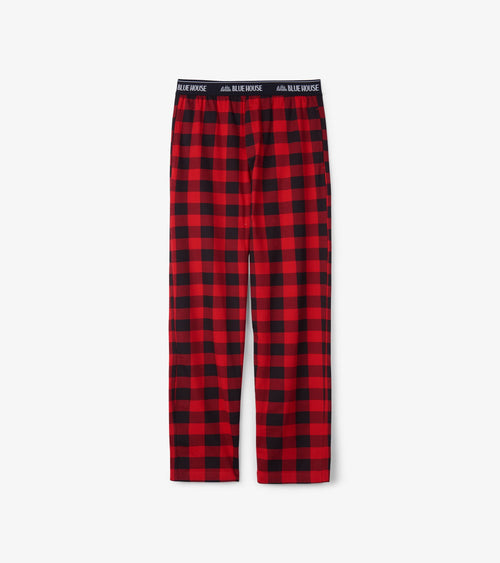 Hatley Little Blue House Buffalo Plaid Men's Jersey Pyjama Bottoms