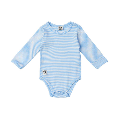 Pippi Babywear Light Blue Stripe Cotton Body