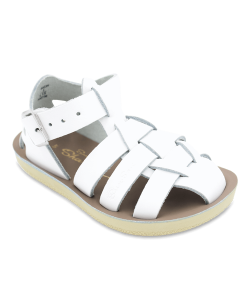 Salt-Water Sandals Shark White - child