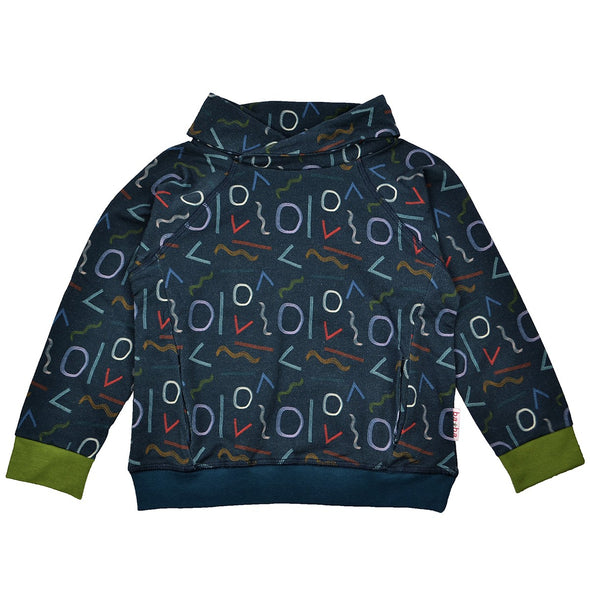 Ba*ba Kidswear Shaded Forms Pocket Sweater