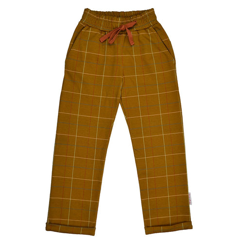 Ba*ba Organic Checked Mustard Pants