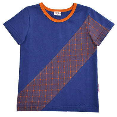Ba*ba Kidswear Check Stripe T-shirt
