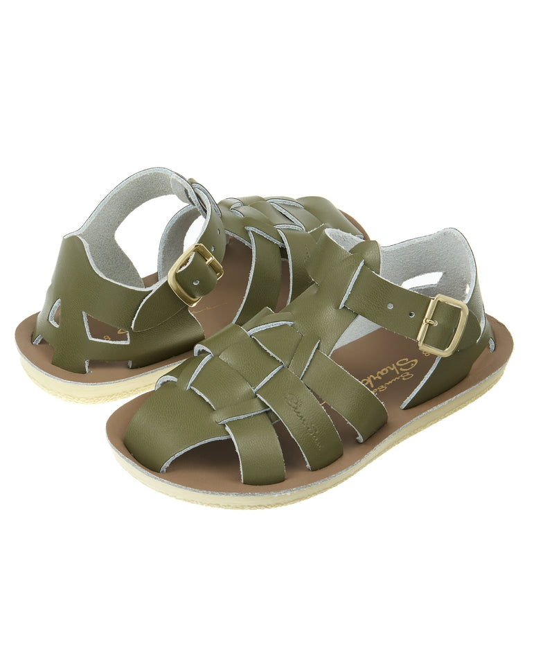 Salt-Water Sandals Shark Olive - child