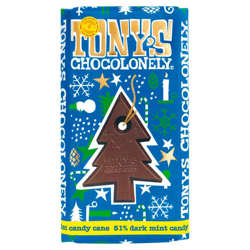 Tony's Chocolonely Dark Chocolate Mint Candy Cane 51% 180g