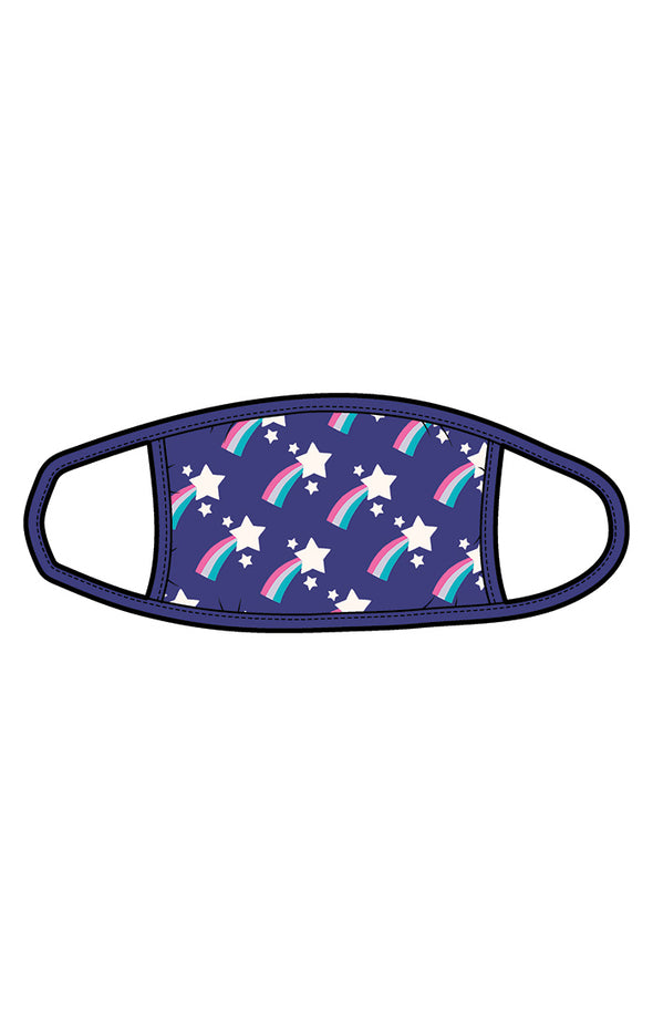 Hatley Little Blue Shooting Stars Adult Face Mask - Non Medical