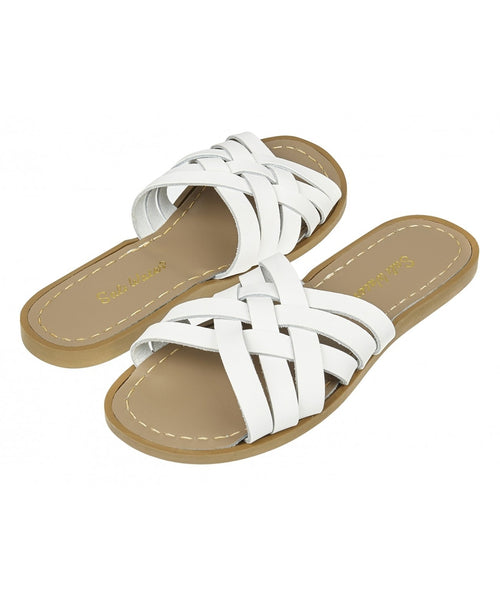 Salt-Water Sandals Retro Slide White - adult