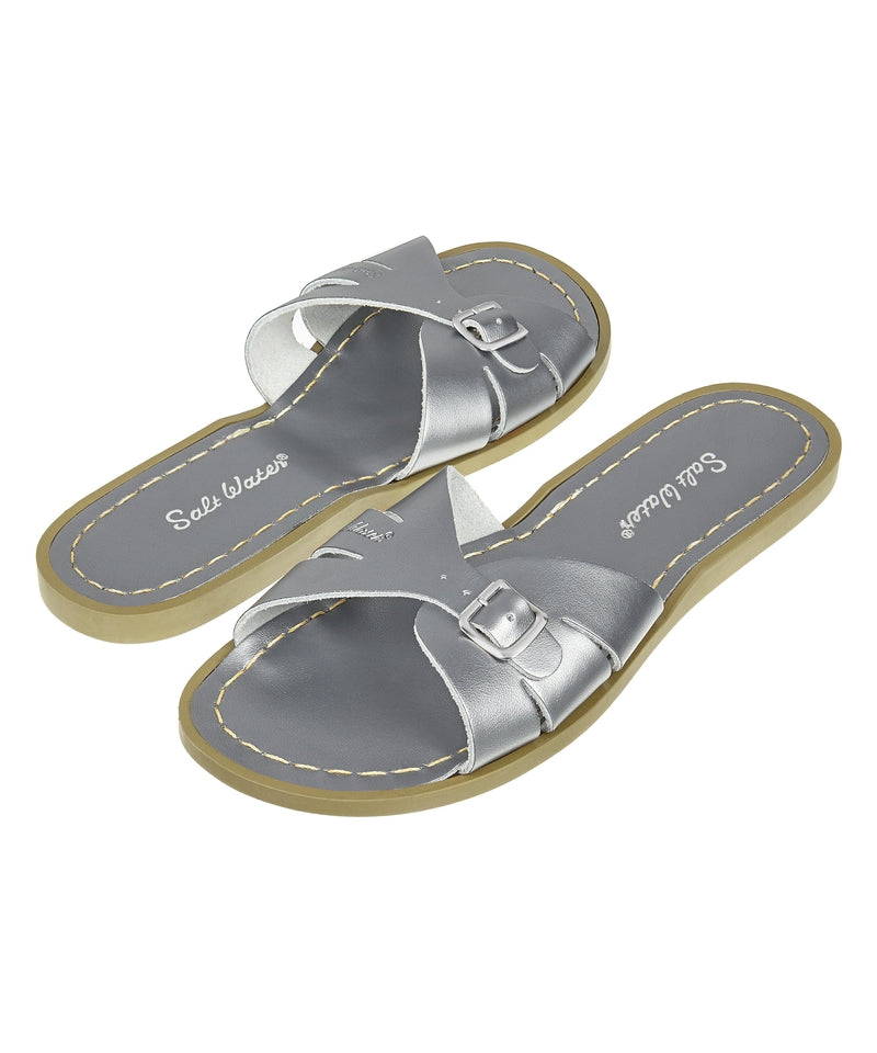 Salt-Water Sandals Classic Slide Pewter  - adult