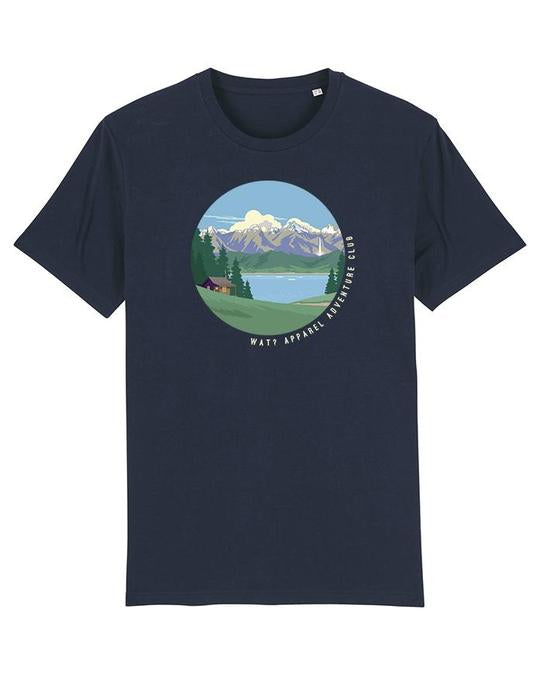 Wat? Apparel Men's Adventure Club T-Shirt French Navy