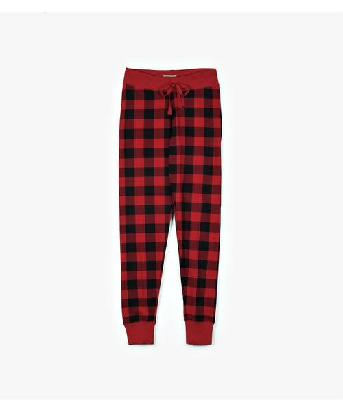 Hatley Little Blue House Women's Buffalo Plaid Sleep Leggings