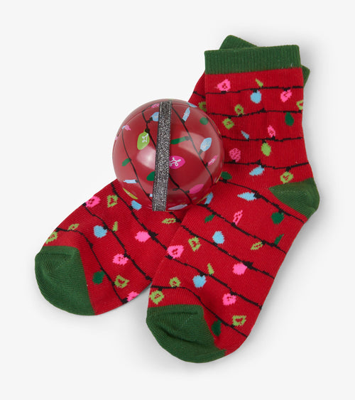 Hatley Red Northern Lights Socks in Balls - Kids