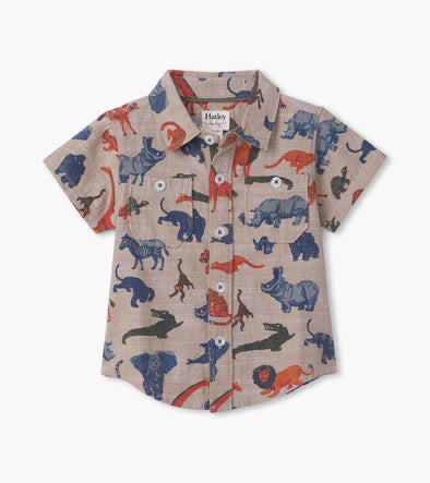 Hatley Jungle Safari Baby Button Down Shirt