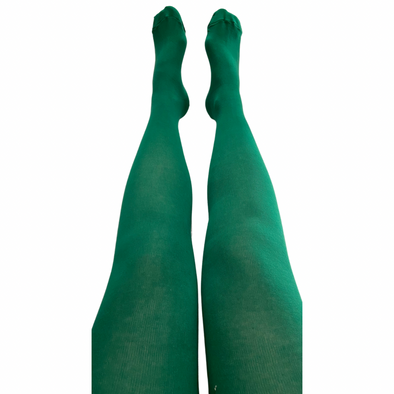 Slugs and Snails Adult Block Colour Tights - Emerald Green