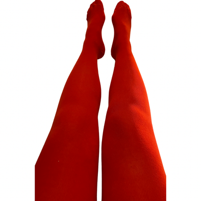 Slugs and Snails Adult Block Colour Tights - Cherry Red
