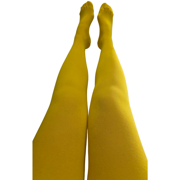 Slugs and Snails Adult Block Colour Tights - Yellow Sunflower