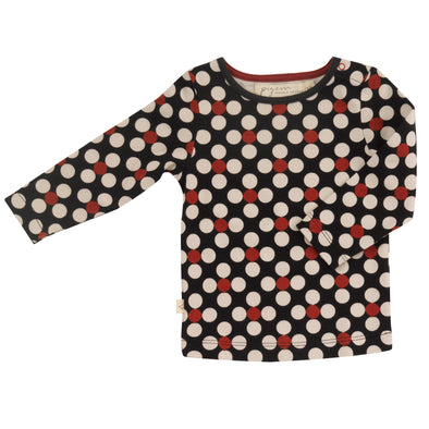 Pigeon Organics Dotty Black Long Sleeved Top