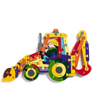 Alphabet Jigsaws Alphabet Backhoe