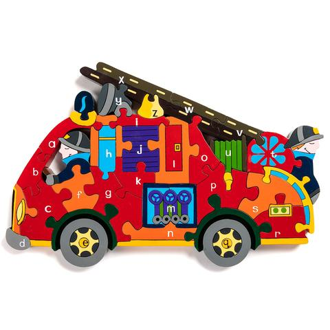 Alphabet Jigsaws Alphabet Fire Engine