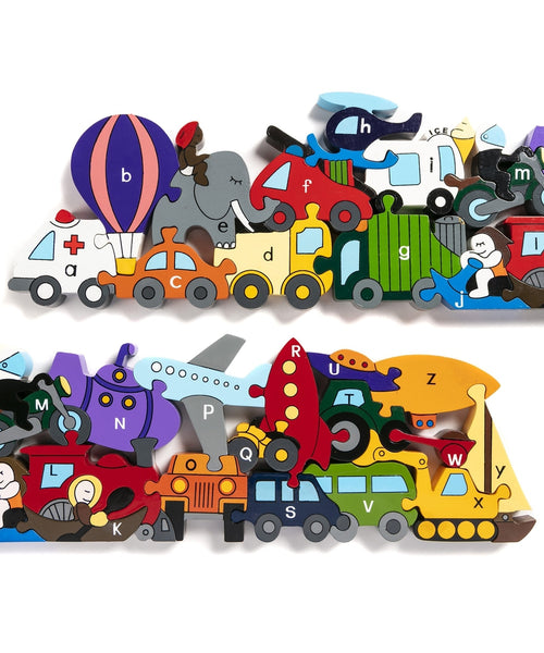 Alphabet Jigsaws Transport Jigsaw and Playset