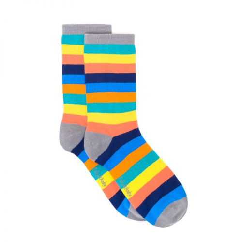 Polly & Andy Bamboo Seam Free Rainbow Stripe Socks- Adult Sizes