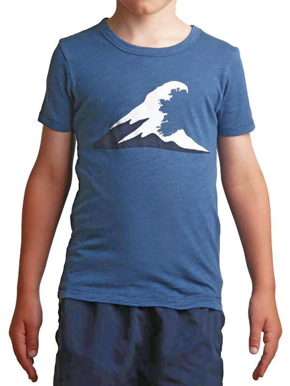Tonn Wave T-Shirt Blue - Child