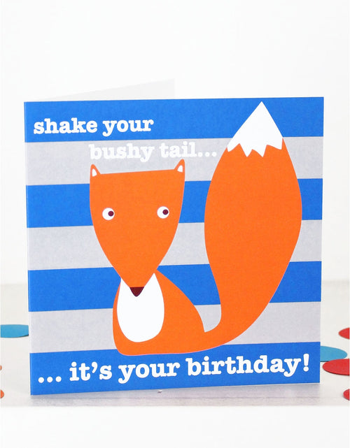 Toby Tiger Fox Birthday Card