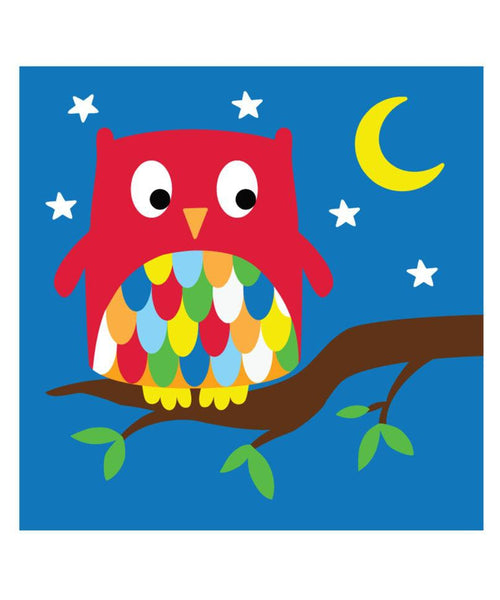 Toby Tiger Owl Greeting Card
