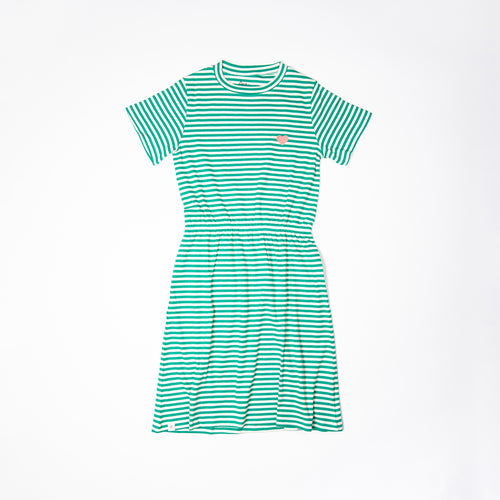 Alba All I Adore Adult Carla Dress Pepper Green Magic Stripes