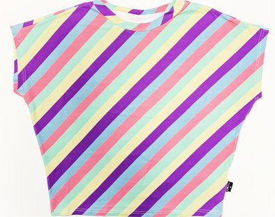 Little Loves Cornwall Candy Stripe Winging it T-Shirt - Adults Sizes