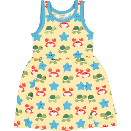 Maxomorra Beach Buddies Sleeveless Spin Dress