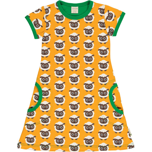 Maxomorra Classic Sheep Short Sleeved Dress