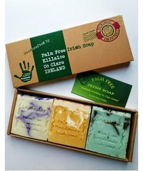 Palm Free Irish Soap Gift Pack of 3 Handmade Soaps
