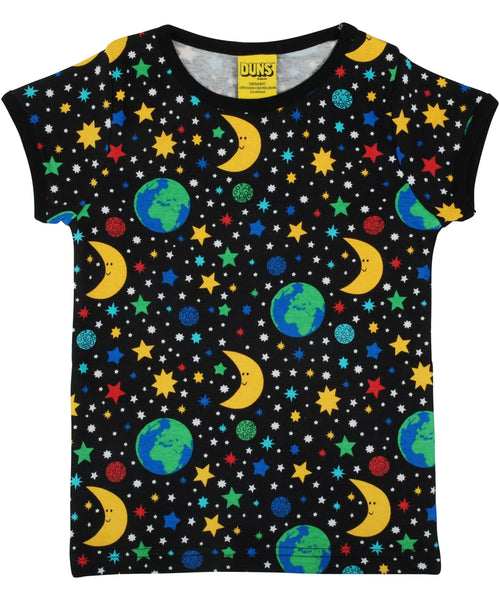 DUNS Mother Earth Black Short Sleeved Top - Adult Sizes