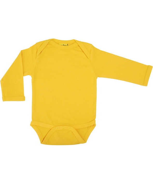DUNS More Than A Fling Warm Yellow Long Sleeved Bodysuit