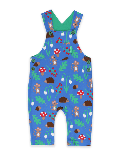 Toby Tiger Woodland Appliqué Dungarees