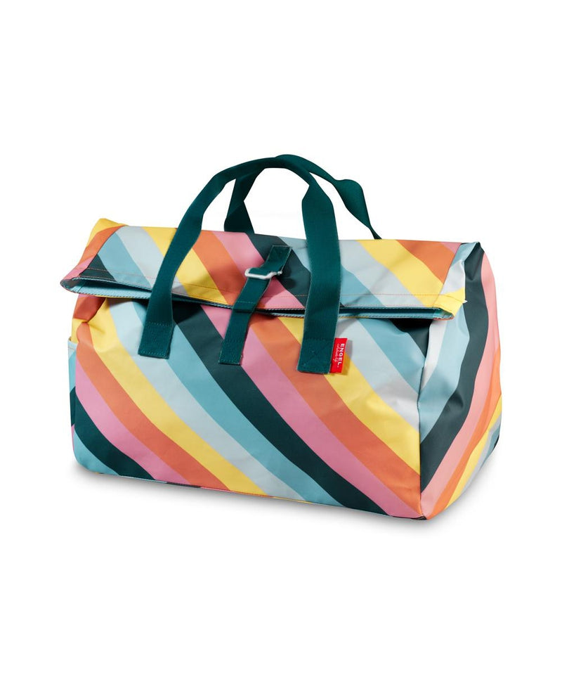 Engel Rainbow Stripe Overnight Flip Bag
