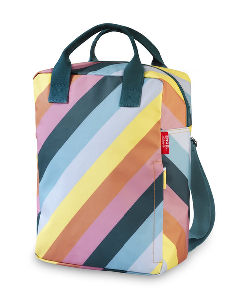 Engel Stripe Rainbow Large Backpack