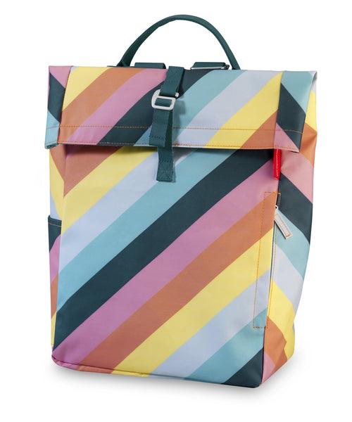 Engel Rainbow Stripe Flip Backpack