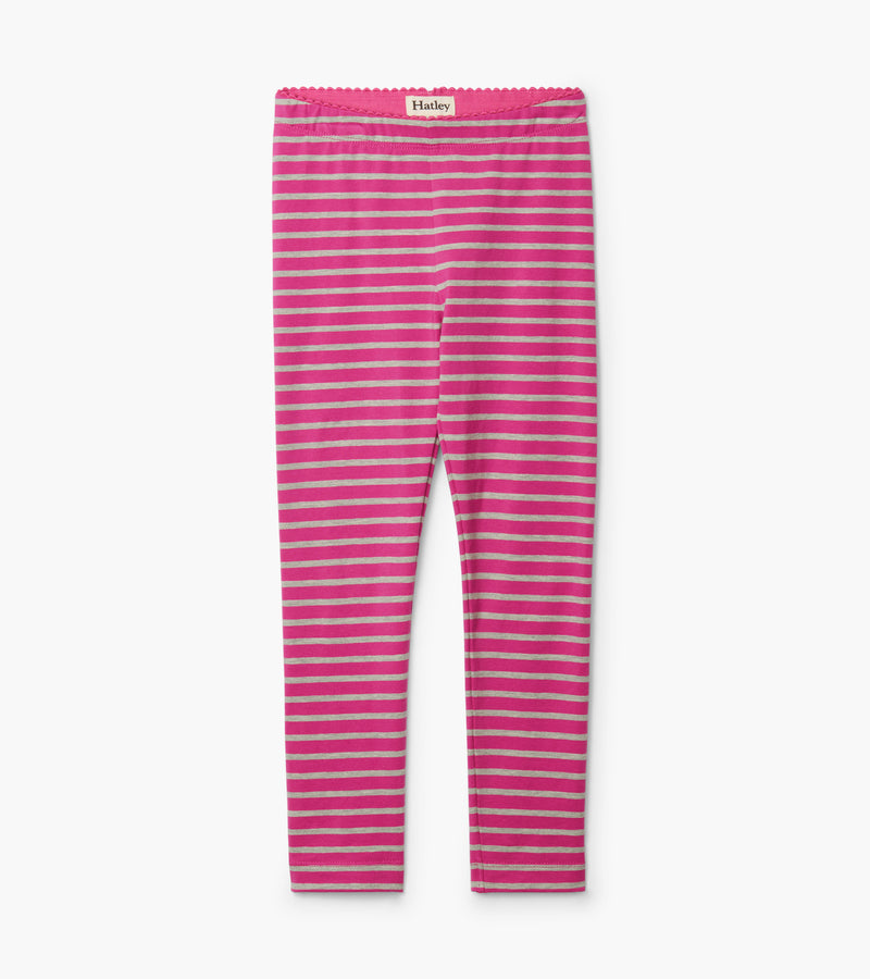 Hatley Fuchsia Stripe Leggings