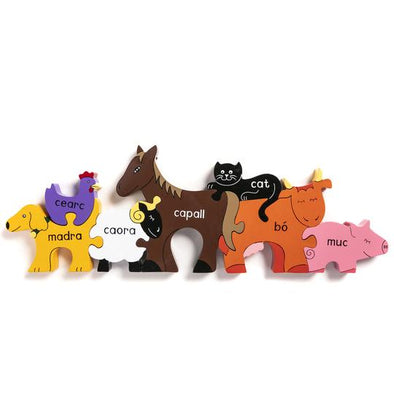 Alphabet Jigsaws Farm Animals In Irish Jigsaw