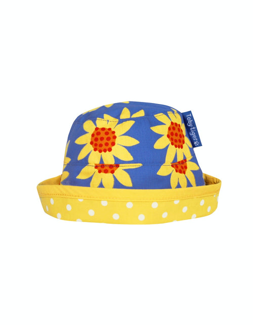 Toby Tiger Sunflower Reversible Sun Hat