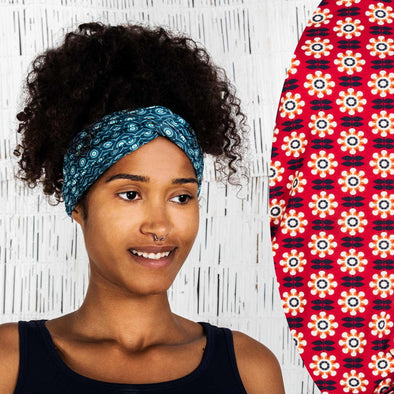 Moshiki Flower Red Knot Headband