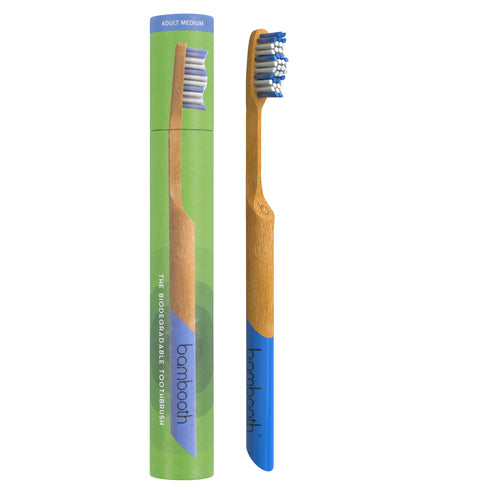 Bambooth Sea Blue Adult Soft Toothbrush