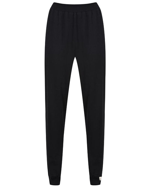 Turtledove London Black Organic Cotton Jersey Trousers - Adult