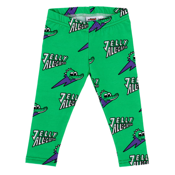Jelly Alligator Green Alligator Leggings