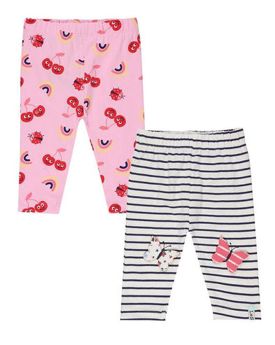 Lilly And Sid Cherry Butterfly 2-Pack Leggings