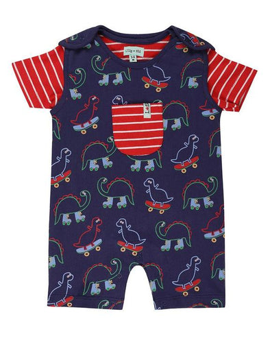 Lilly and Sid Dino Dungaree Set