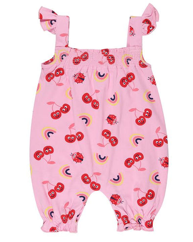 Lilly and Sid Sweet Cherry Short Playsuit