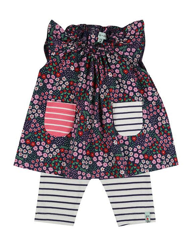 Lilly And Sid Ditsy Dress Leggings Set